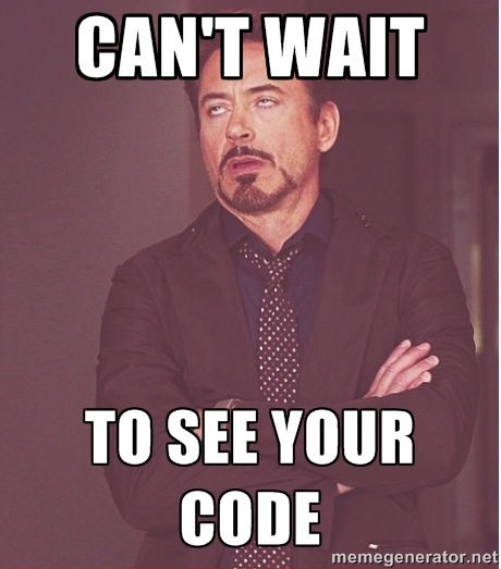 Can't wait to see your code!